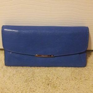 COACH blue wallet.